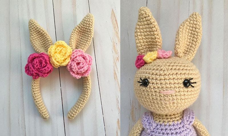 Crochet Bunny Headband A Free Pattern Grace And Yarn