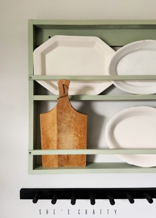 Wall rack to hold platters and cutting boards