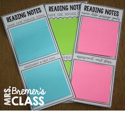 Reading Observation Sticky Note Bookmarks for Teachers These EDITABLE sticky note bookmarks are perfect to jot down anecdotal notes while doing a reading observation, to note progress and areas for improvement. Fully customizable, just print over the text boxes to make them work for you. A great assessment tool! #stickynotebookmarks #readingobservation #teaching #teachertools #reading #assessment