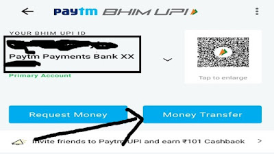 Click on money transfer