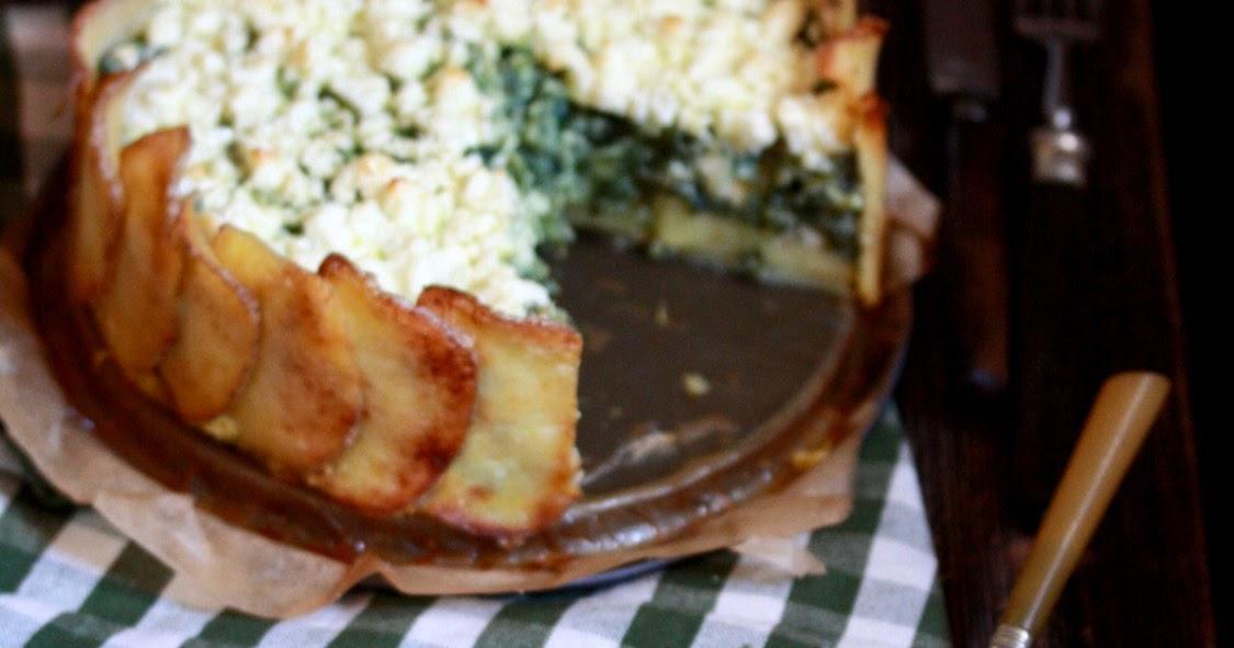 Fleischfrei ins Wochenende: Kartoffeltorte mit Ricotta und Spinat