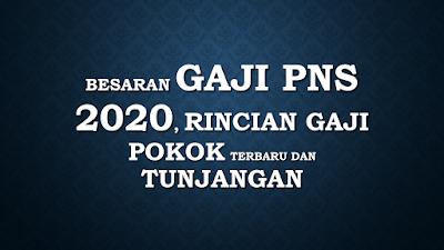 Besaran Gaji PNS 2020, Rincian Gaji Pokok Terbaru dan Tunjangannya