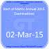 Start of Matric (Annual) Examination, 2015