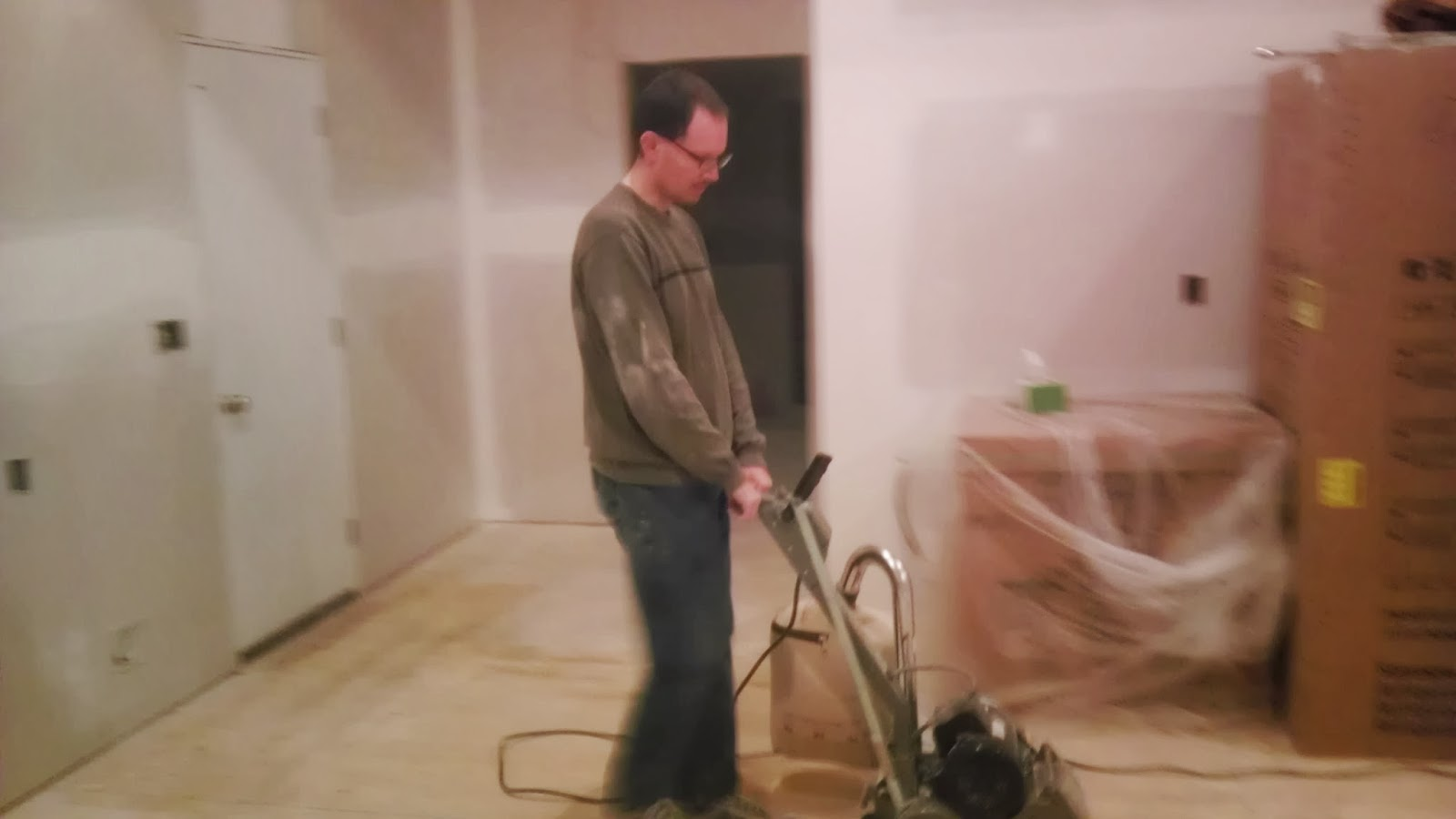 Once Upon an Acre: Sanding the subfloors