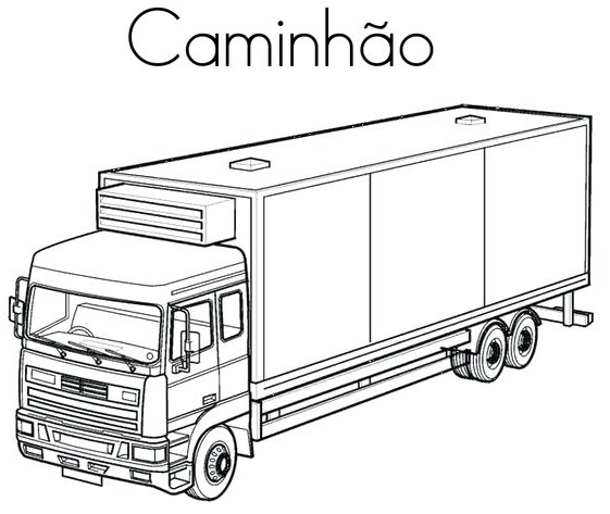 blog de geografia caminhão desenho para imprimir e colorir
