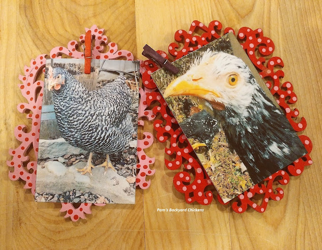 Here's a fun DIY Valentine's magnetic picture frame that's inexpensive, easy and a thoughtful gift for the chicken lover (or any loved one) in your life.
