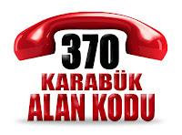 0370 Karabük telefon alan kodu
