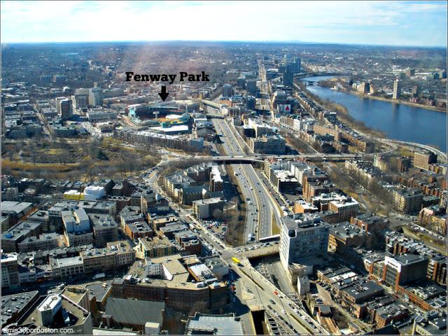 Fenway Park desde el Observatorio del Prudential, Boston