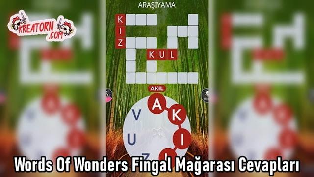 Words-Of-Wonders-Fingal-Magarasi-Cevaplari