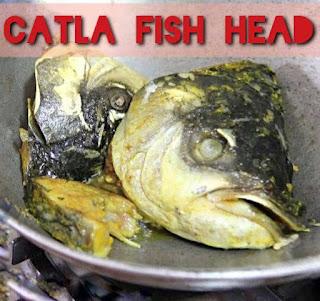 Fried fish head