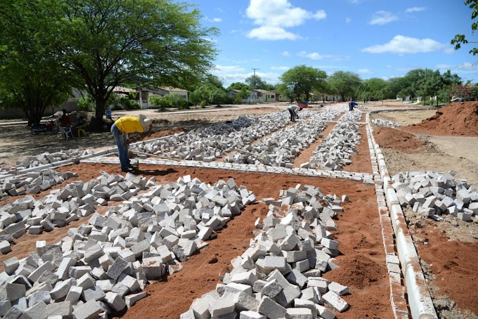Prefeitura de Jacobina inicia obra de pavimentação no Jenipapo