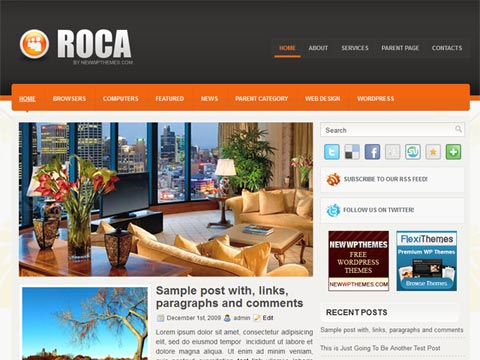 Roca Free WordPress Theme