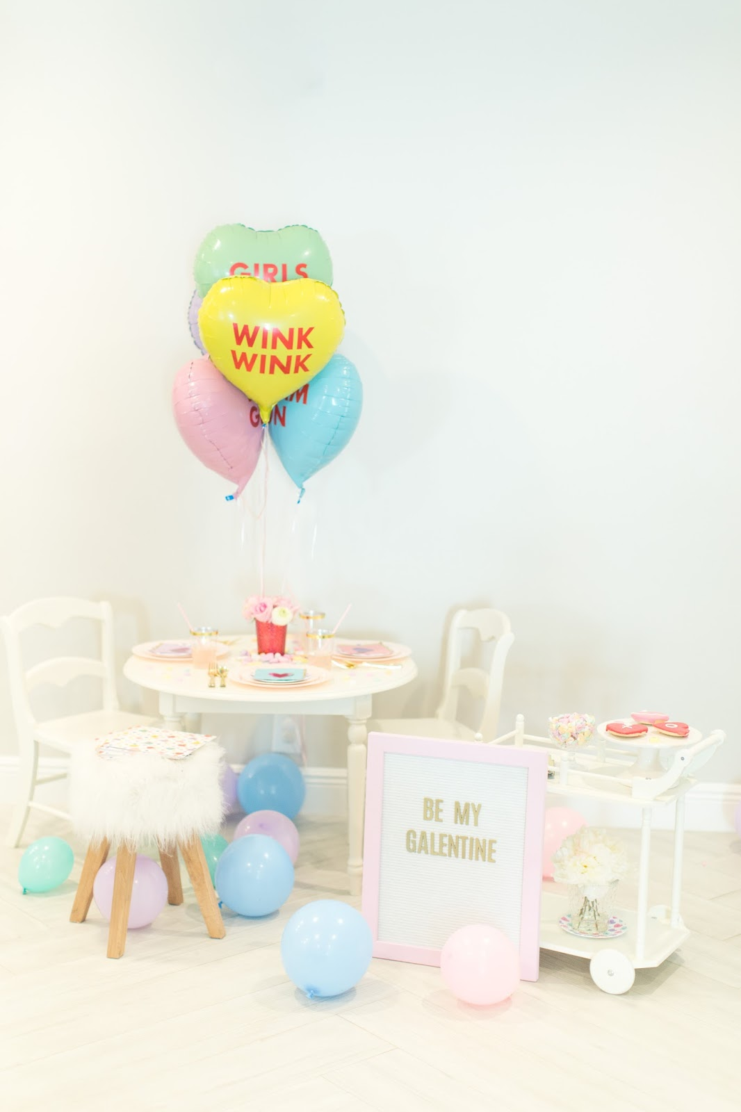 Kid's Candy Heart Valentines Day Party by popular South Florida party blogger Celebration Stylist