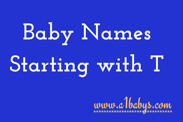 baby girl names starting with T