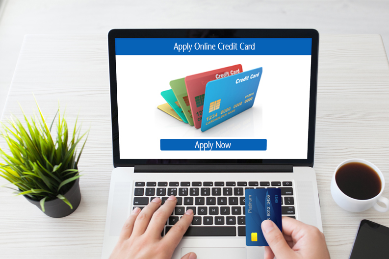Online credit card application