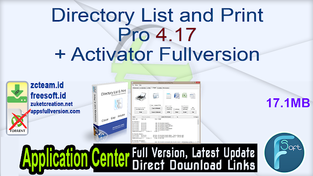 Directory List and Print Pro 4.17 + Activator Fullversion