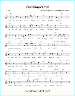 chord sweet georgia brown lagu jazz standar