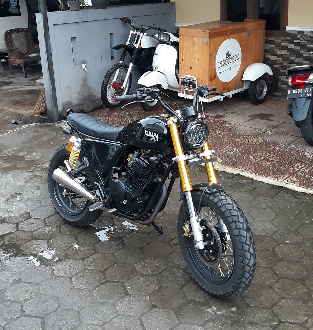 modifikasi motor custom japstyle scorpio
