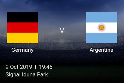 LIVE MATCH: Germany Vs Argentina Fifa Internationals 09/10/2019