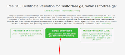 Choose Manual Verification