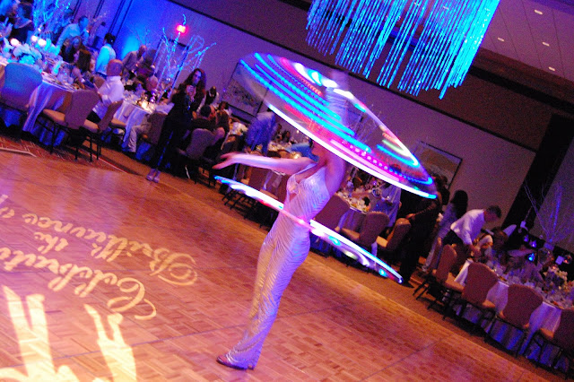 hula hoop entertainment, circus entertainment, LED performer