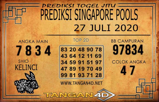 PREDIKSI TOGEL SINGAPORE TANGAN4D 27 JULI 2020