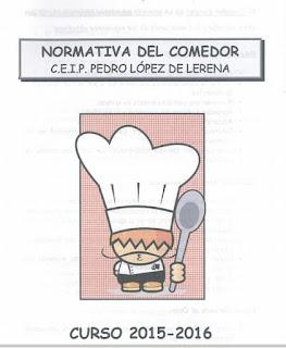 Las cosas del lerena recordatorio normativa de comedor for Cosas del comedor