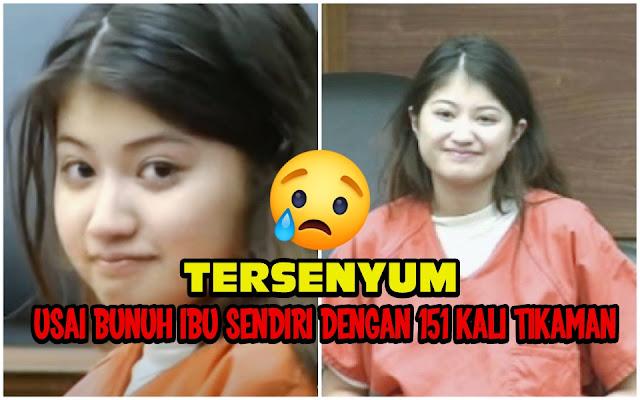 Bunuh Ibunya dengan 151 Tikaman, Wanita ini Masih Bisa Tersenyum di Pengadilan
