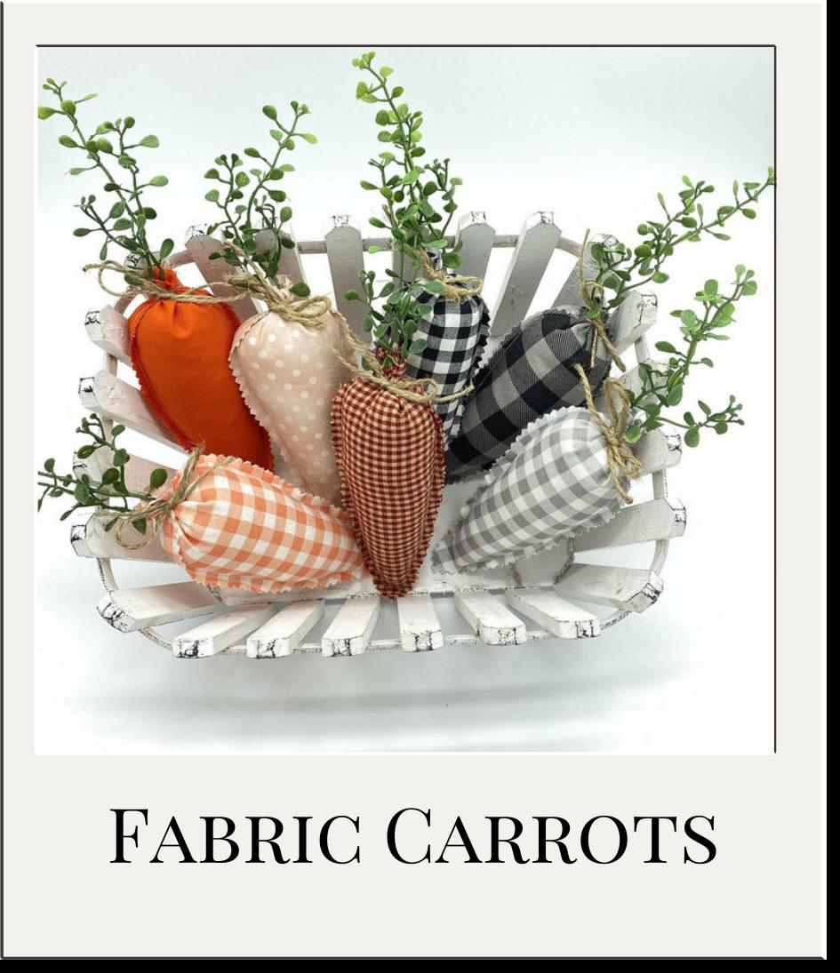 Farmhouse Fabric Carrots