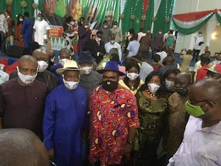 Photos: Gov Wike Attends Rivers State PDP inauguration, violates social distancing guidelines