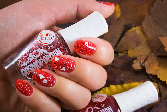 Naillook by Cosmopolitan 31447 Red in Love Matt red