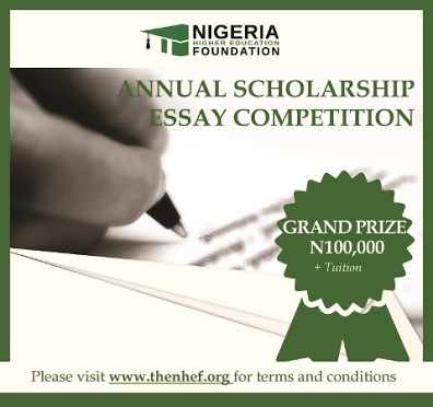 Essay competition 2016 in nigeria