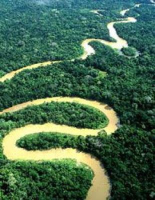 Najbardziej rwąca rzeka na świecie Amazonka w Brazylii