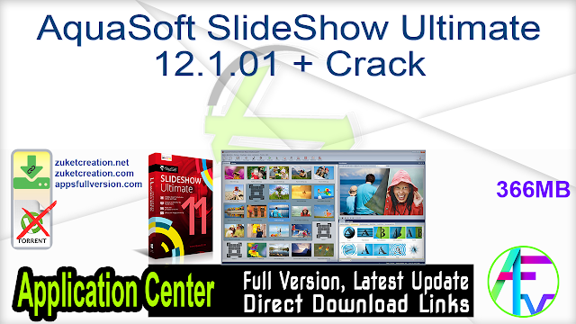 AquaSoft SlideShow Ultimate 12.1.01 + Crack