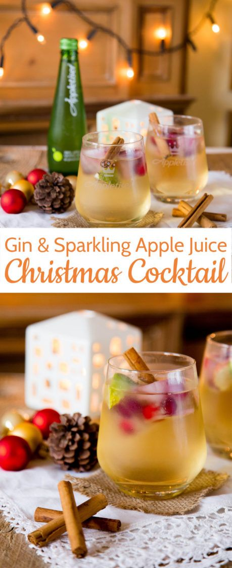 Gin &Appletiser a refreshing Christmas Cocktail
