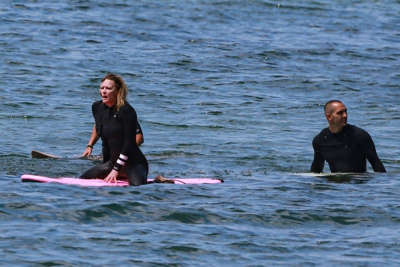 Robin Wright Surfing at a Beach in Malibu 12 JUn-2020