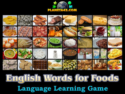 English Words for Foods
