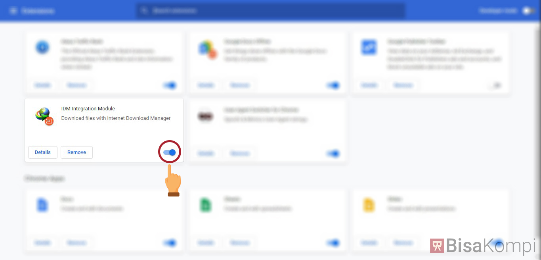 Cara mengaktifkan ekstensi IDM di Chrome