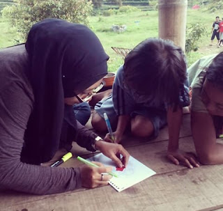 berbagi bersama adek-adek Desa Promasan