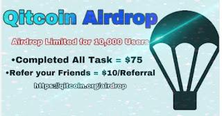 Giveaway Qitcoin (QTC) Airdrop $75
