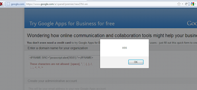 Cross Site Scripting (XSS) Vulnerability in Google