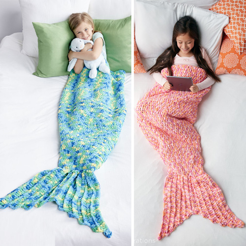 My Mermaid Crochet Snuggle Sack  - Free Pattern