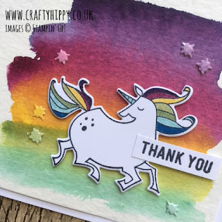 Create a darker watercolour wash on your Magical Day Unicorn Card using more ink and less water.