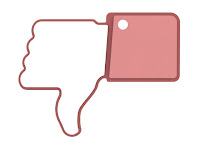 Facebook pink dislike button