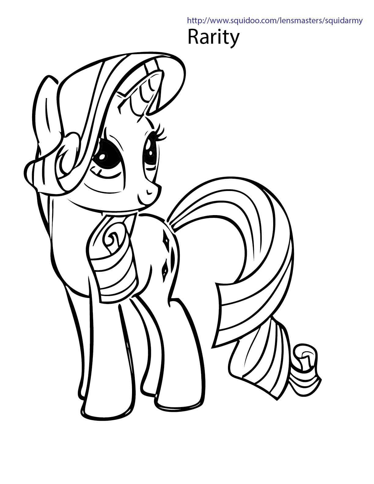 rarity coloring page - my little pony coloring pages squid army