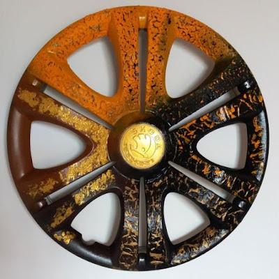 Transforme calotas velhas de carro em artesanato