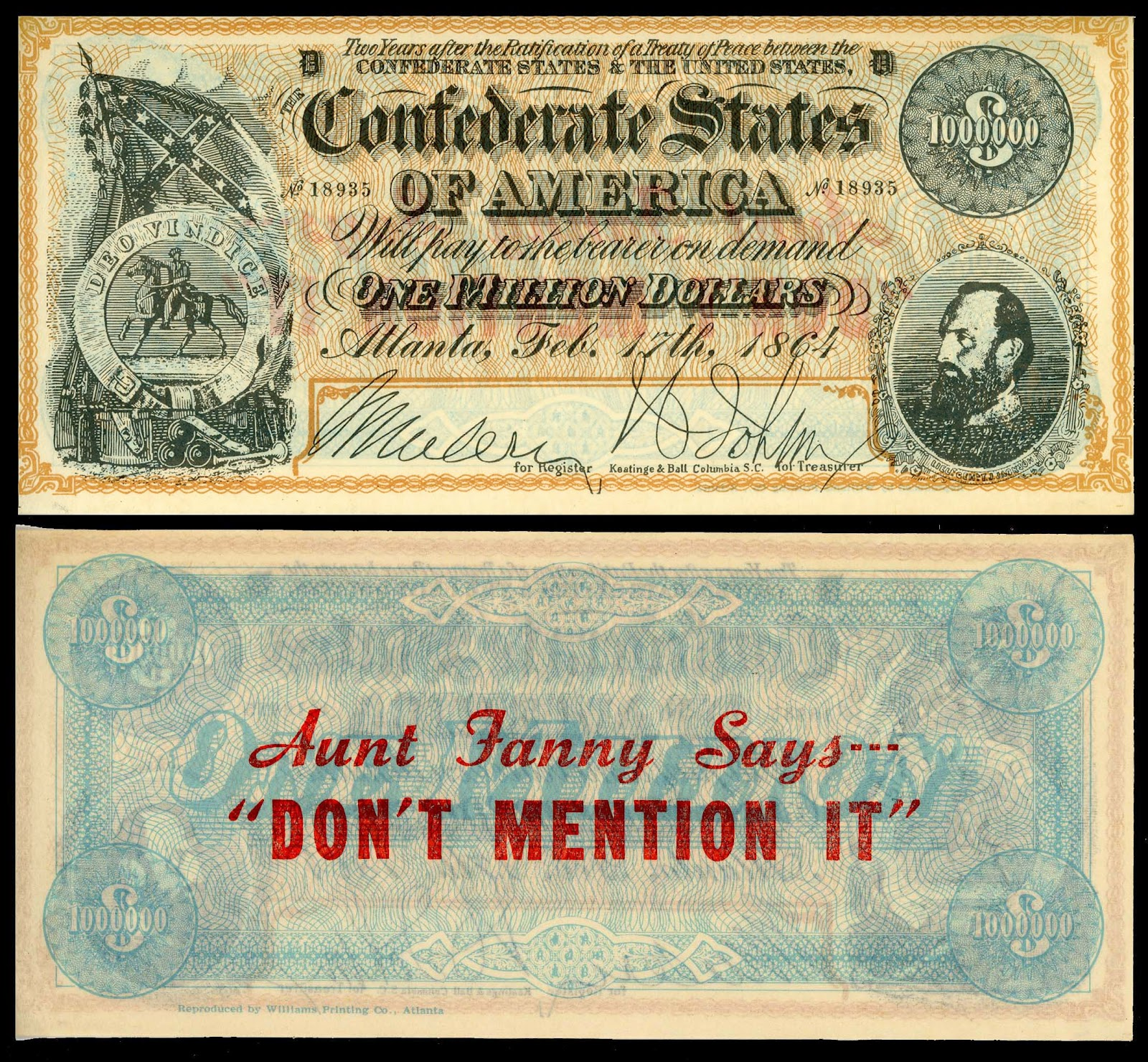 Yesterday S Papers Facsimile Confederate Money Used As