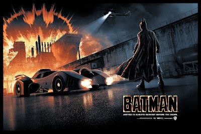 New York Comic Con 2019 Exclusive Batman '89 Screen Print by Matt Ferguson x Bottleneck Gallery x DC Comics