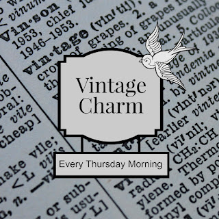 Vintage Charm party every Thursday morning mythriftstoreaddiction.blogspot.com Party reminder