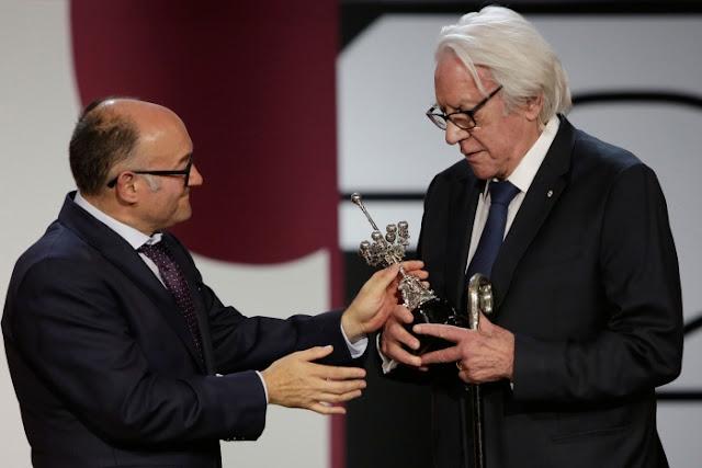 Donald Sutherland recibre su Segundo Premio Donostia